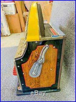 Antique Watling Rol-A-Top 5c Cent Nickel Slot Machine Working Excellent