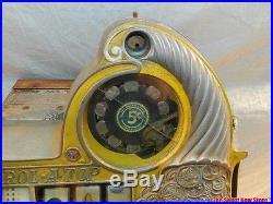 Antique Watling Rol A Top Gold Award Twin Jackpot Mint Vendor Slot Machine 5c