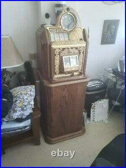 Antique Watling Rol-a-top with Custom Console 10c Slot Machine