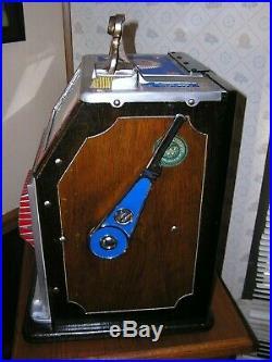 Antique Watling Torch Front nickel slot machine, Mills, Pace, Game Room