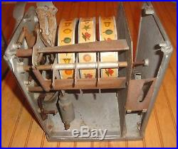 Antique Zephyr Coin Penny Operated Trade Stimulator Gumball Slot Machine as is