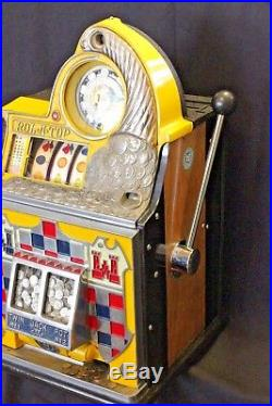 Antique c1940 WATLING ROL A TOP 10c Slot Machine Checkerboard Coin Front