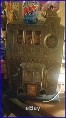 Antique coin slot machine10c Pace Comet fancy Front 1936 works original parts