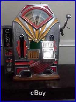 Antique''little Duke'' 1 Cent Slot/gum Machine- O. D. Jennings & Co. 1920-1935
