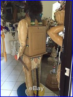 Antique native american indian slot machine made for the silver slipper