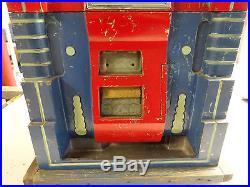 Antique vintage Mills Extraordinary slot machine 25CENT WORKS NEEDS RESTORATION