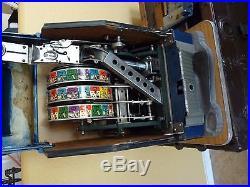 Aristocrat Ainsworth Clubmaster Antique Vintage 1956 Casino 1 Cent Slot Machine