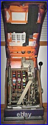 Aristocrat Penny Arcade Coin Operated Penny Slot Machine Needs Minor Repair