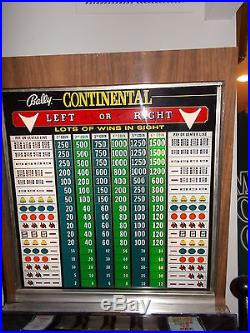 Bally 5 Cent Contential Slot Machine