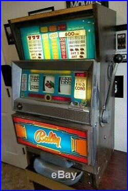 BALLY PLAY 1 TO 3 COINS 3 REEL 25 CENT SLOT MACHINE 2270-39 Vintage 1970's