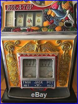 Beautiful Watling Rol-a-top Bird Of Paradise Nickel Slot Machine