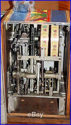 BURTMIER PONY (TWO REEL) 5c SLOT MACHINE of 1934