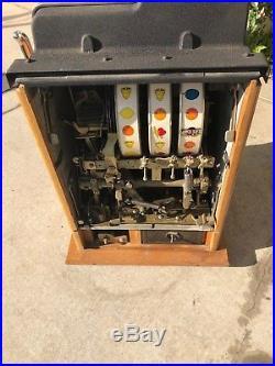 Baker Black Beauty 10 Cent Cherry Slot Machine Original
