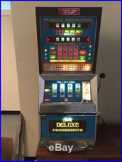 Bally Deluxe 4 Reel Progressive Continental 5 Cent Nickel Slot Machine Excellent