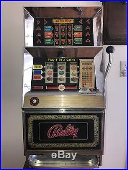 Bally Slot Machine, circa 1971, 25-cent, model 742A-2F