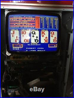 Bally Video Poker V2000 Jacks Or Better Coins Only Play To 1 To 5 Coins