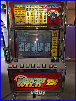 Bally Video Poker V5500 Deuces Wild Coins Only Play To 1 To 5 Coins