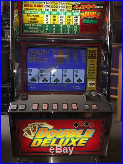 Bally Video Poker V5500 Double Deluxe Coins Only Play To 1 To 5 Coins