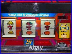 Bally Vintage (1975) upright 1-3 coin slot machine EM Fully working model 1090