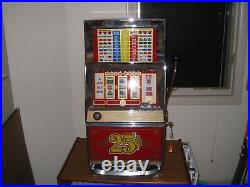 Bally Vintage/antique Quarter Slot Machine 1979 Casino Used In Great Condition