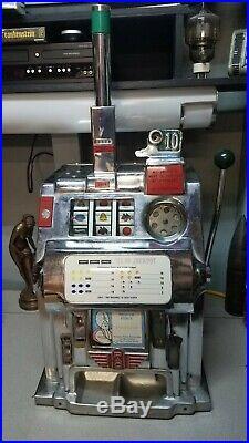 Beautiful Antique Pace 10 Cent Slot Machine From Harrah's Casino