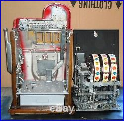 Buckley 5-cent antique slot machine, ca. 1948