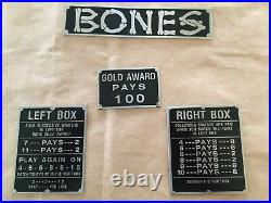 Buckley Bones Slot Machine replacement plates