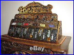 Caille New Century Detroit Slot Machine 5 Cents Fully Restored