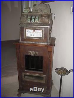 CIRCA 1902 HAPPYJAPY stick gum clock-work vending machine- filled with gum