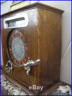 Caille Ben Hur Antique Slot Machine English Penny or 50 cent Counter Wheel