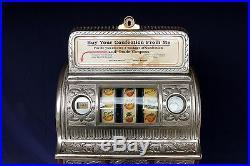 Caille Victory Cast Iron Center Pull Gum Vendor Antique 5c Slot Machine Video