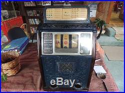 Caillie Bros. Antique 1930's 5 Cent Slot Machine WORKS