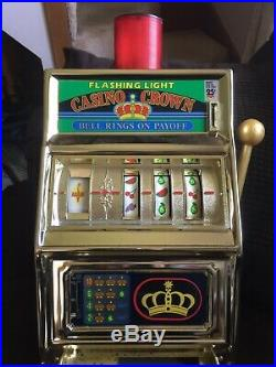 Casino Crown 25 Cent Slot Machine Bell Rings Quarters Drop You Win Made In Japan