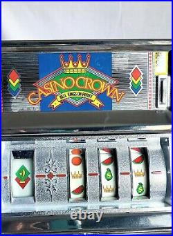 Casino Crown Toy Coin Slot Machine With Ringing Payoff Bell