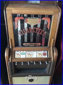 Ciga-Rola Vending Machine Coinop Jennings Slot Machine NOS