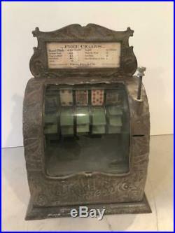 Circa 1896 CAST IRON poker machine-ORIGINAL CONDITION