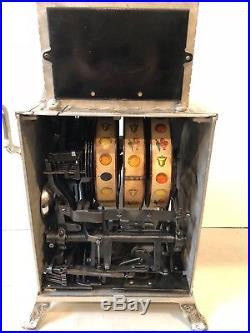 Circa 1907/08 MILLS NOVELTY FANCY LEGS CAST IRON 5 CENT OPERATOR BELL slot