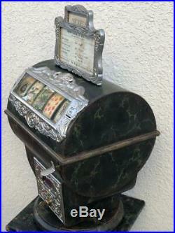 Circa 1907- CAILLE JUMBO SUCCESS COUNTER MODEL poker machine-on swivel base