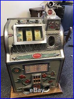 Classic 1930 Rare Mills Poinsettia Slot Machine