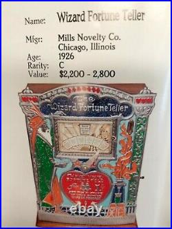 Collectable Wizard Fortune Teller Machine Manufactured From 1917-1927 Mint Cond