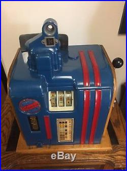 Columbia 1 Cent Slot Machine With Cigarette Reel Strips Incredible Unrestored