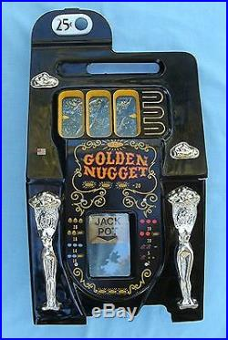 Complete Front Casting for a Mills Golden Nugget Slot Machine