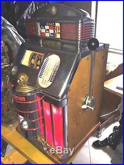 Dollar$ Jennings Light Up Rare Tic Tac Toe Antique Slot Machine