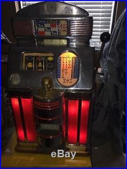 Dollar Jennings Light Up Rare Tic Tac Toe Slot Machine