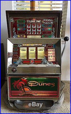 Dunes Hotel & Casino Las Vegas Bally Antique Quarter 25 Cent Slot Machine 1981