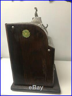 EARLY WATLING SLOT-cast iron with wood sides-older restoration-CAST IRON VENDER