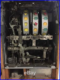 Estate Find 1950's 5 Cent Antique Mills Twenty One Hi-Top Slot Machine, Restored