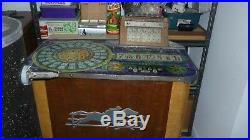 Evans Galloping Dominoes Console Slot Machine Circa 1940's Complete Lights Up