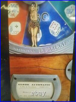 Extremely Rare Antique L. Loubet Le Poker D'as Coin Op French Slot Machine