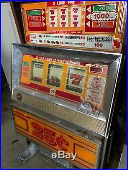 Fair Condition Vintage 25 Cent Slot Machine